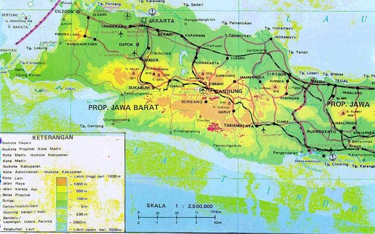 Peta Provinsi Jawa Barat